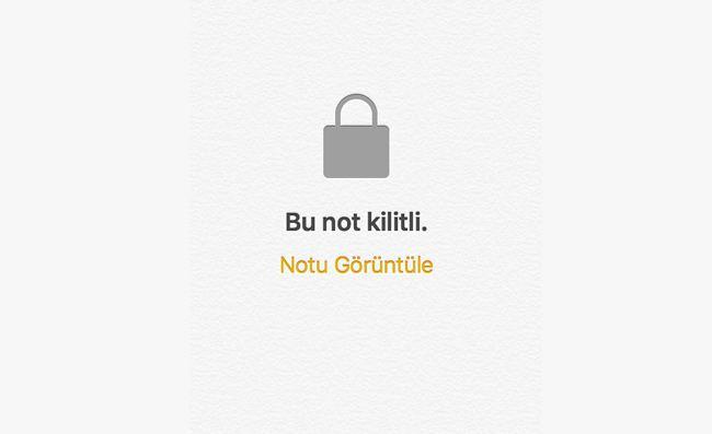 iPhone Notlara Parola Koymak
