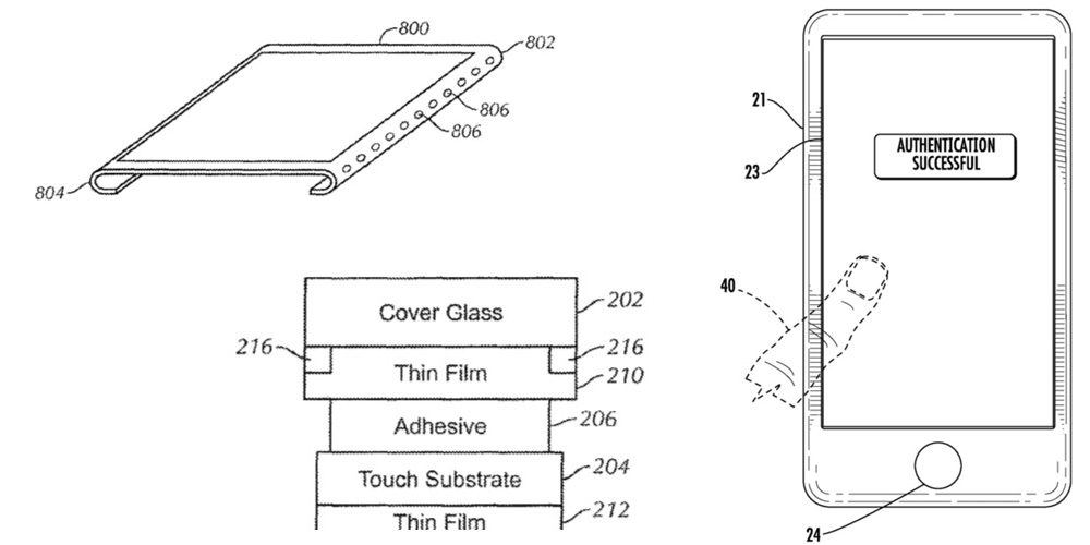 iPhone8 Touch ID patent