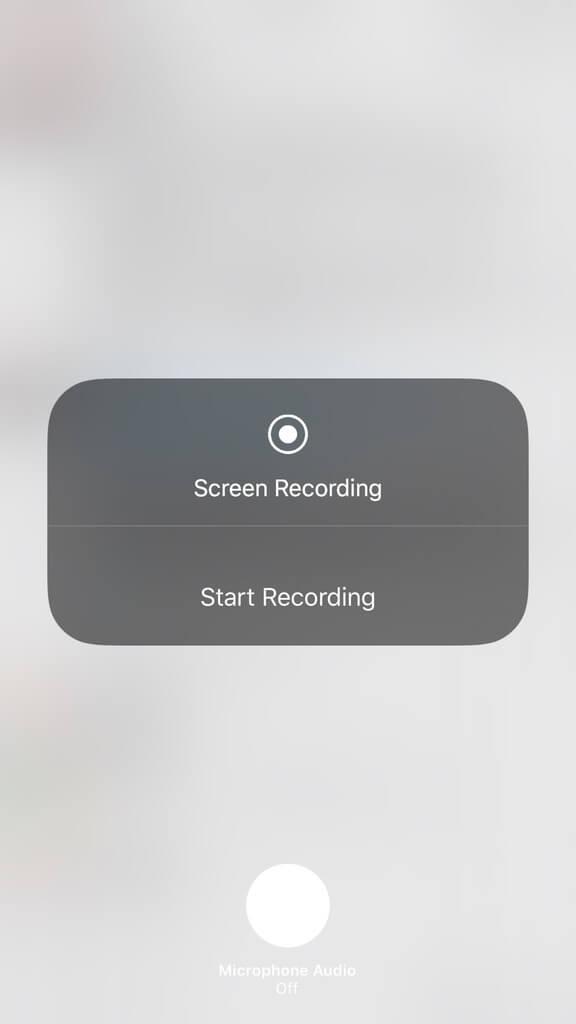 iOS 11 ekranı kaydetme