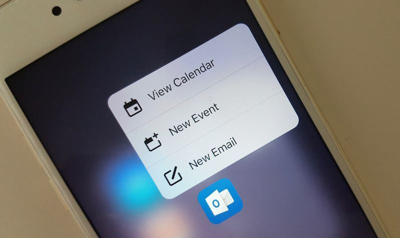 how to add microsoft outlook email to iphone