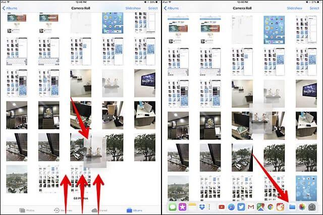 iPad Dock dosya tasima