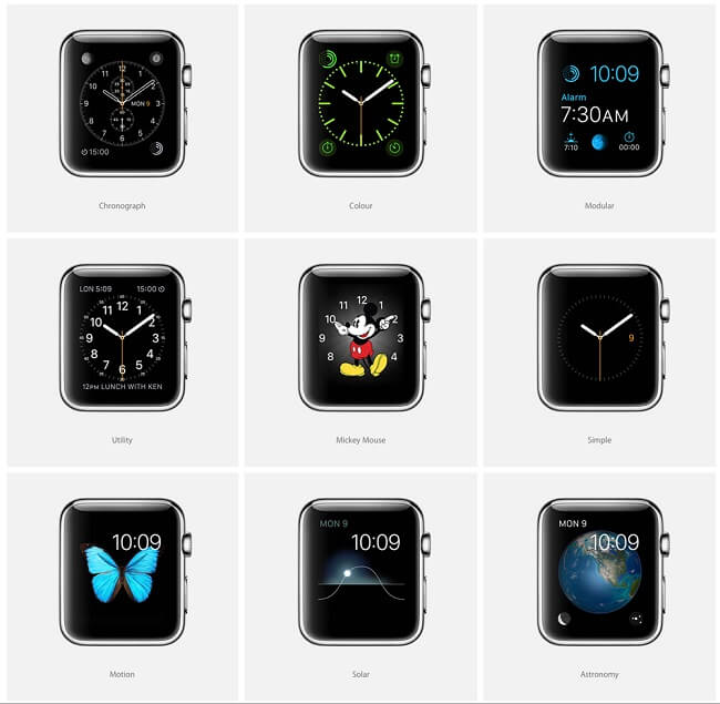 Apple Watch kadranlar