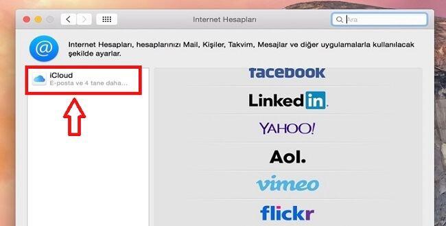 Mac Sistem Tercihleri iCloud