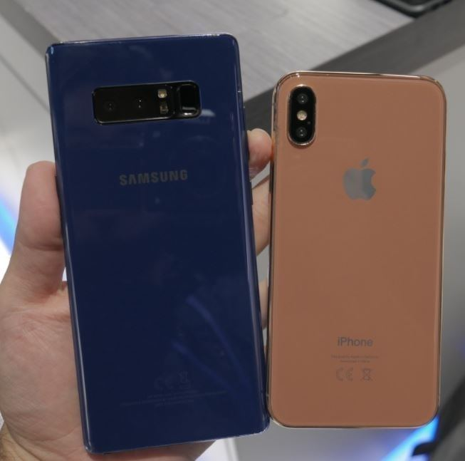 Note 8 ve iPhone 8