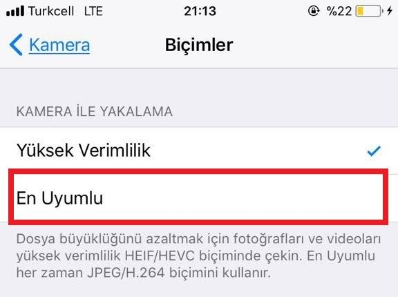 iOS 11 Kamera Bicimler
