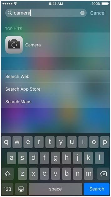 iPhone Kamera uygulamasi kayboldu