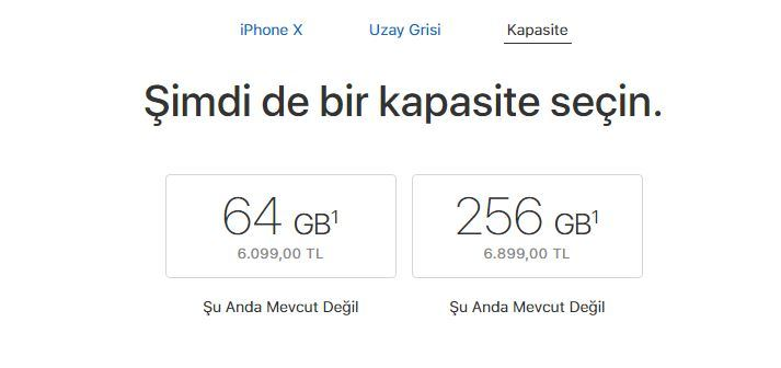iPhone X 64GB ve 256GB fiyat