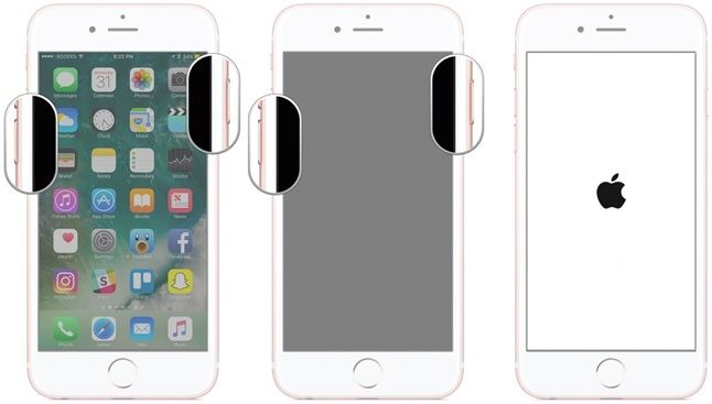 iPhone yeniden baslatma