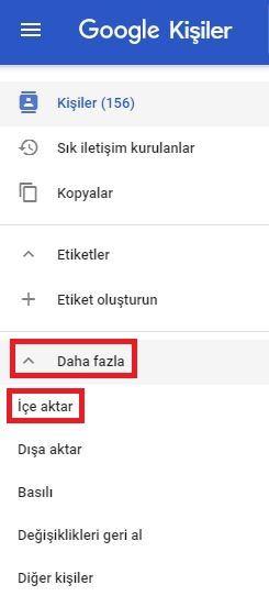 Google Kisiler Disa Aktar