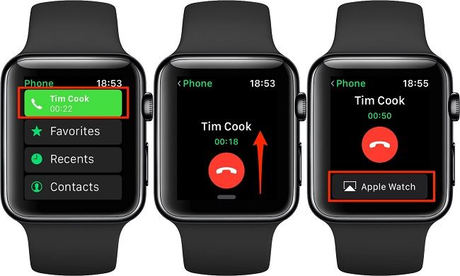 iPhone Apple Watch arama aktarma