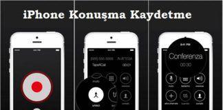 iPhone konusma kaydetme