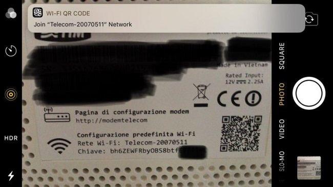modemin arkasındaki QR kod