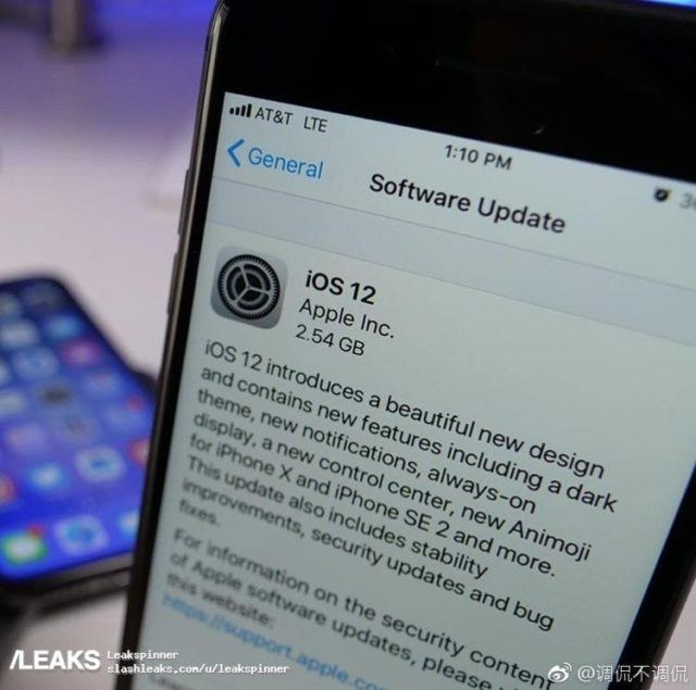 iOS 12 işletim sistemi