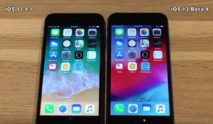 iOS 12 Beta 4 vs iOS 11.4.1