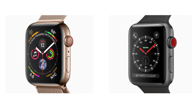 Apple Watch 4 ve Apple Watch 3