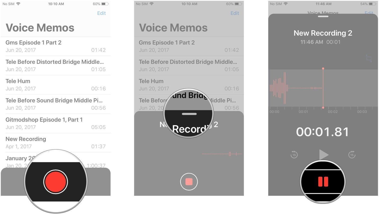 iPad ve iPhone Sesli Notlar