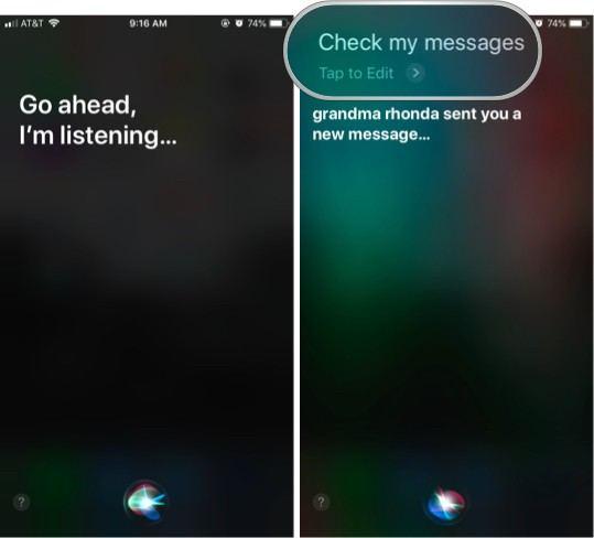 Siri ile iMessage