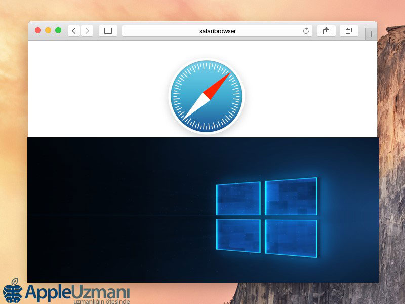 Windows 10'da Safari tarayıcı
