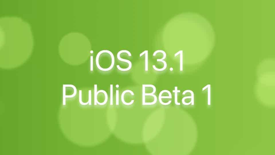 iOS 13.1 Public Beta