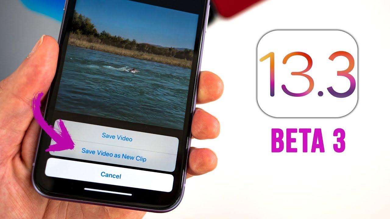 iOS 13.3 Beta 3