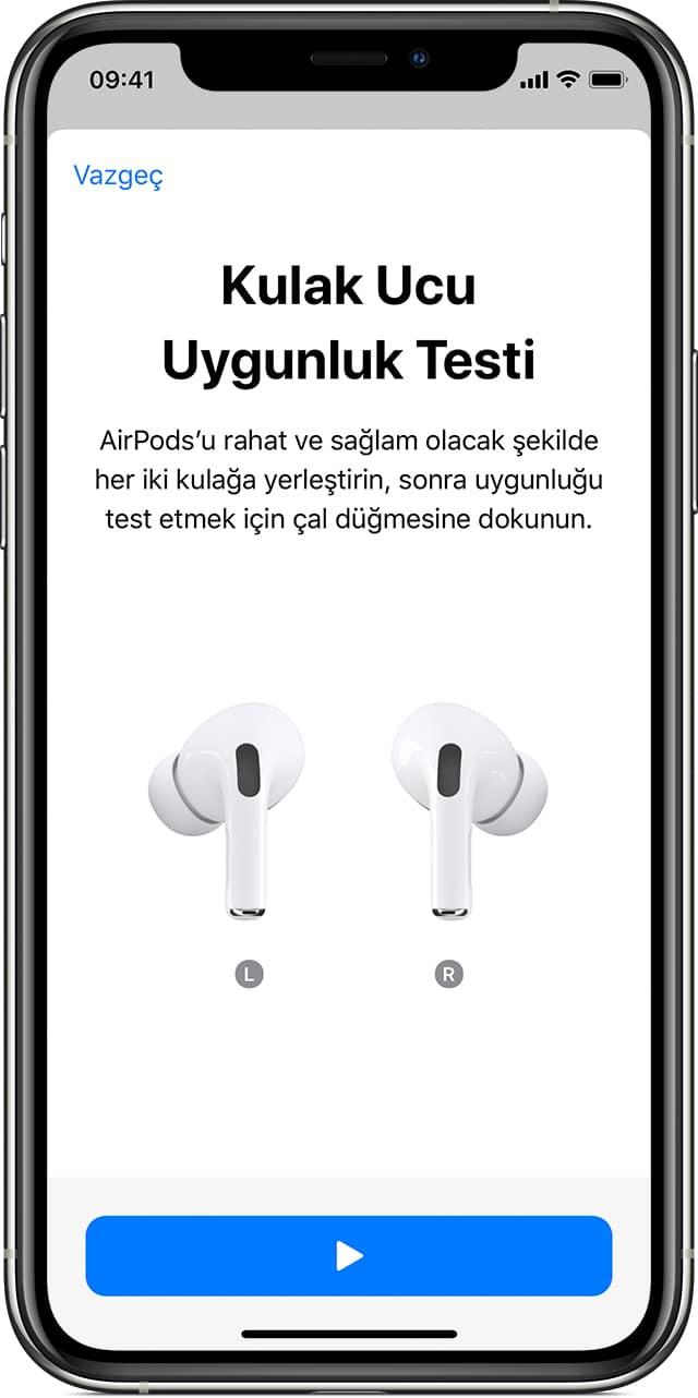 AirPods Pro Kulak Ucu Uygunluk Testi