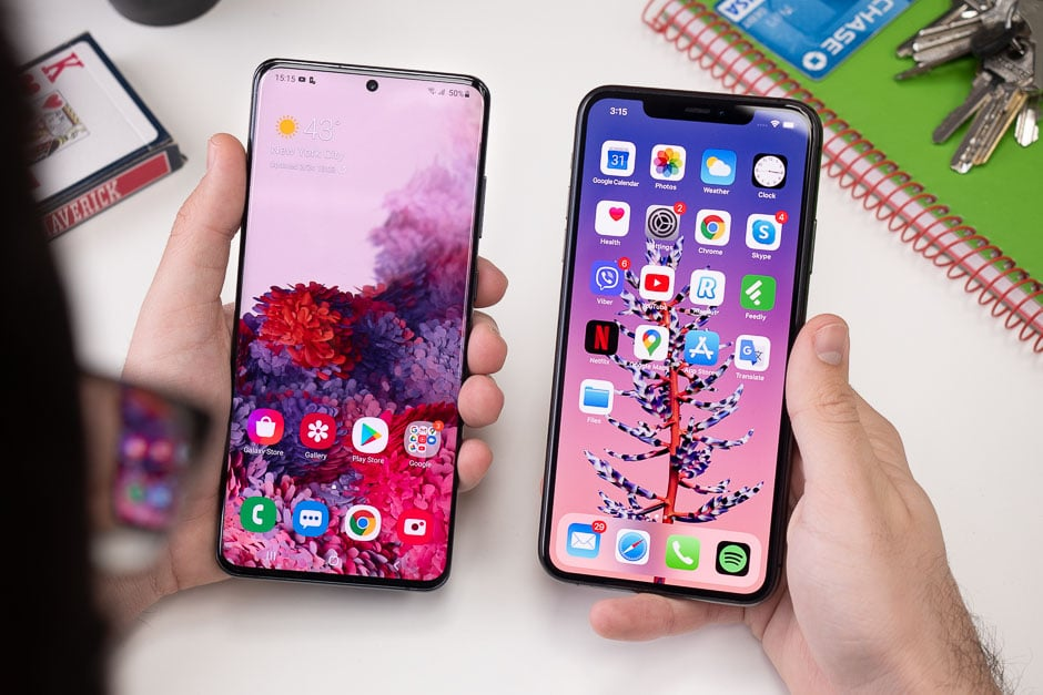 Samsung Galaxy S20 Plus vs iPhone 11 Pro Max