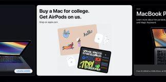 Apple 2020 Okula Dönüş kampanyası