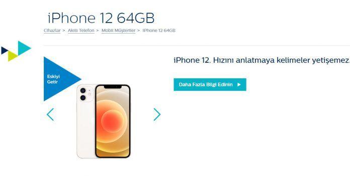 Türk Telekom iPhone 12 64GBeskiyi getir yeniyi götür kampanyası