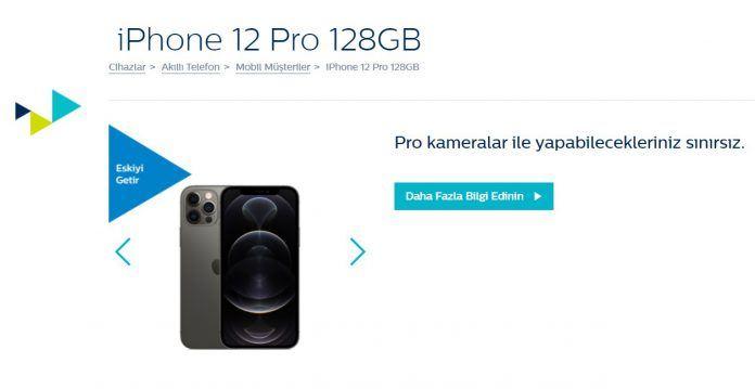 Türk Telekom iPhone 12 Pro 128 GB Eskiyi Getir Yeniyi Götür Kampanyası