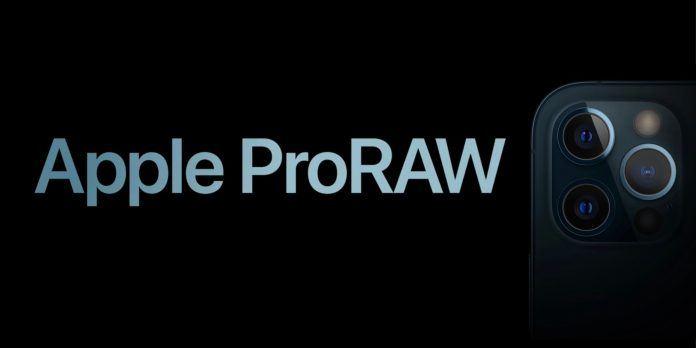 iPhone ProRaw