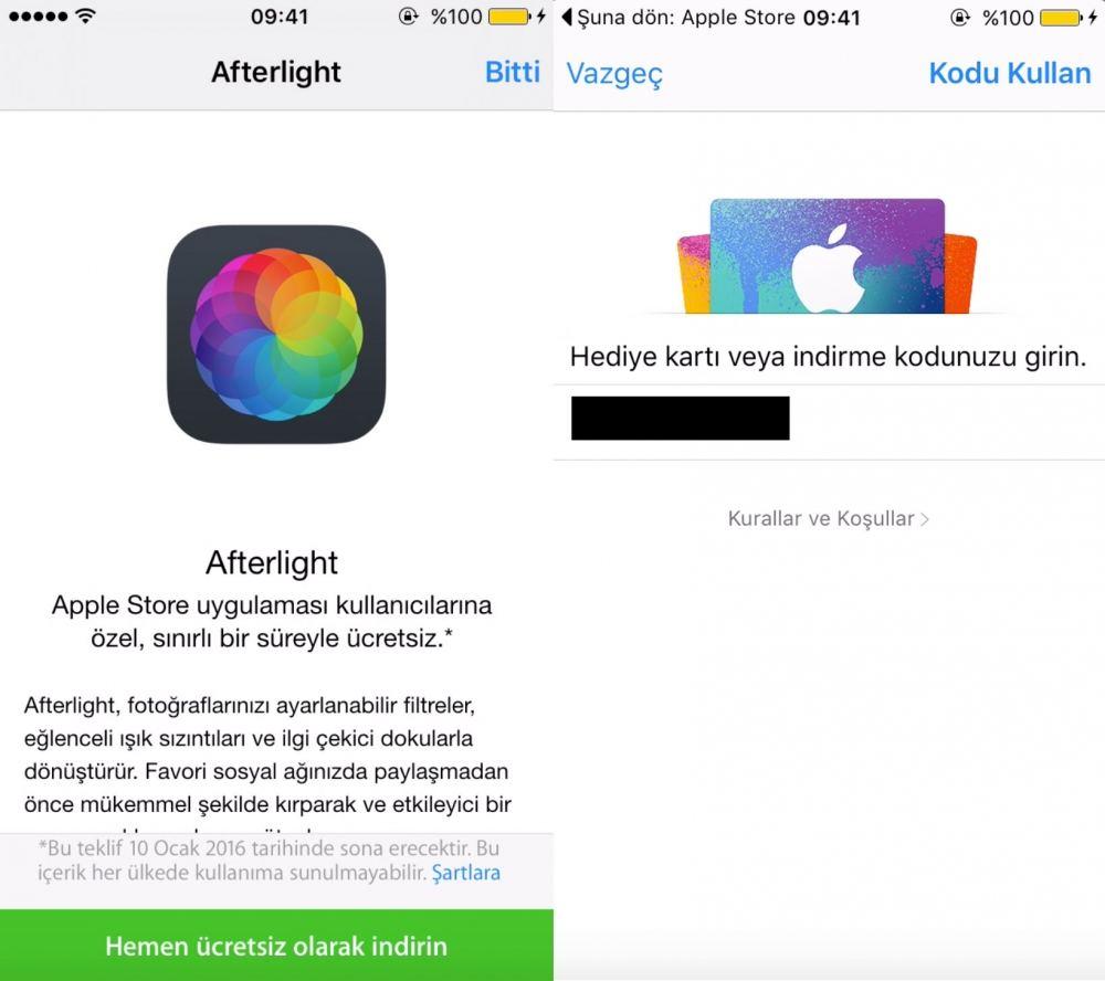Afterlight uygulamasını ücretsiz indirn