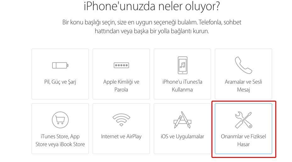Samsun iPhone teknik servis