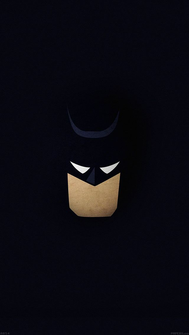 Batman Face Illustration Minimal Flat Dark iPhone 5 Wallpaper