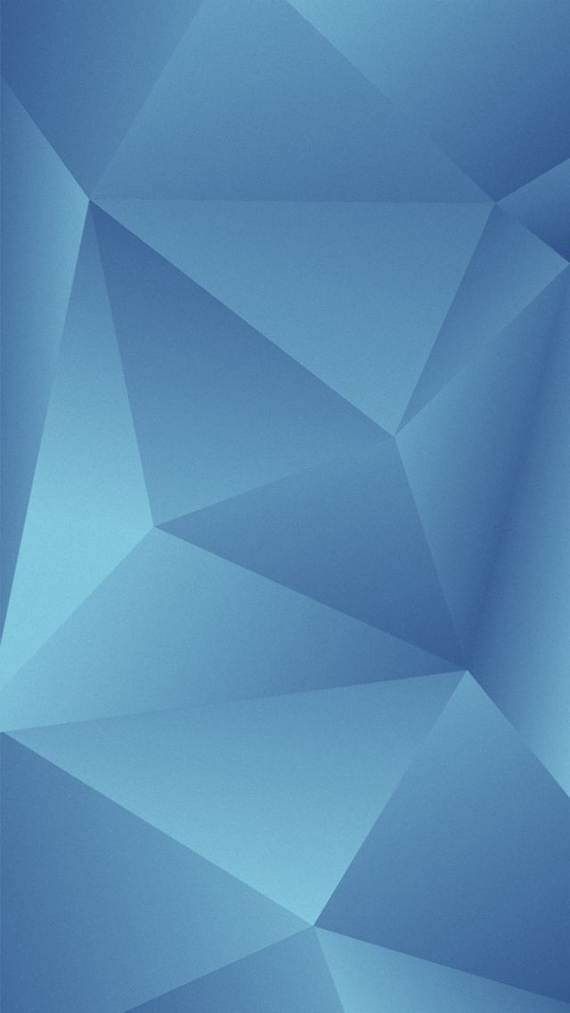 Blue Abstract Triangles iOS7 iPhone 5 Wallpaper