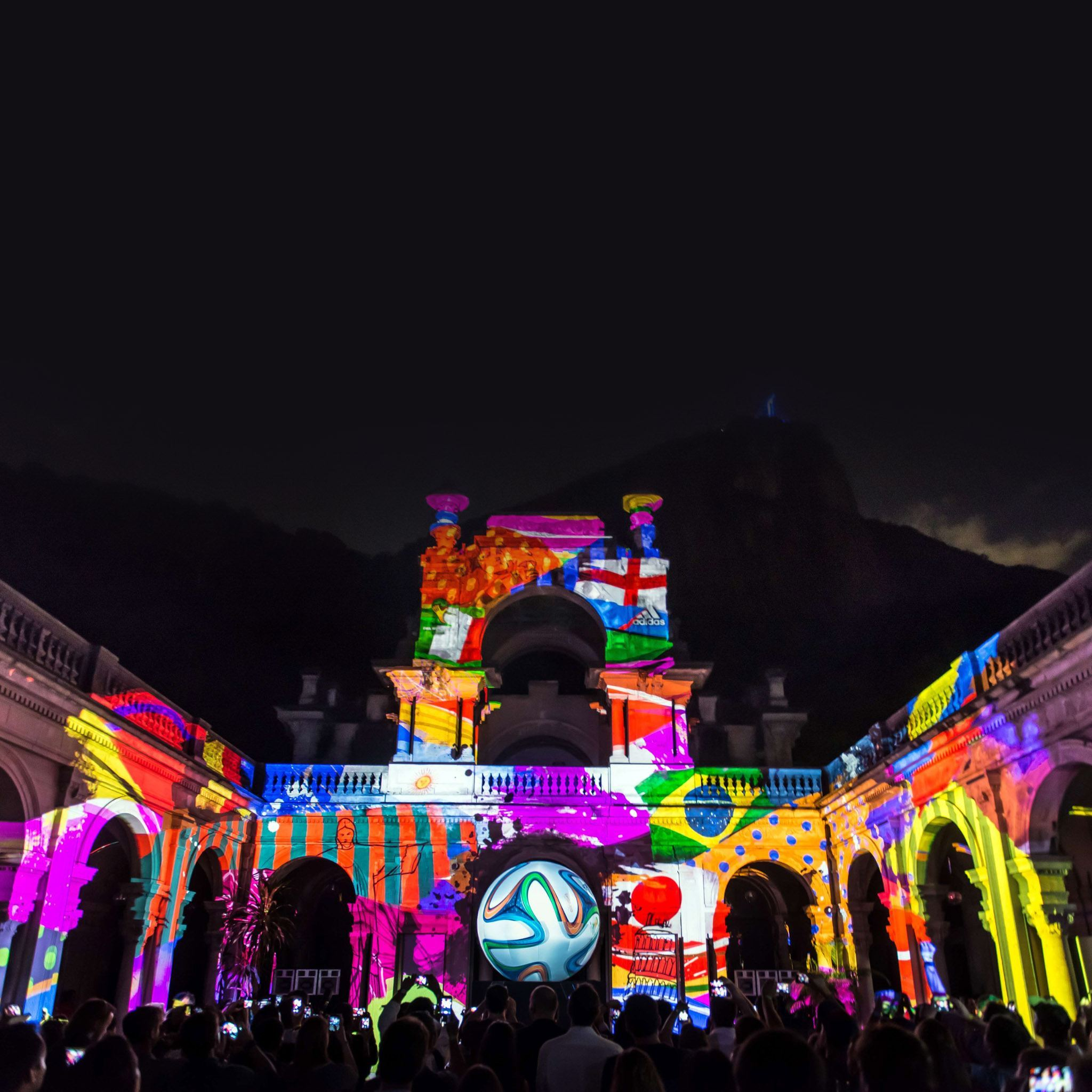 Brazuca --the official football for the Brazil 2014 FIFA World Cup-- is introduced as a projection during its launching in Rio de Janeiro, Brazil, on December 3, 2013. AFP PHOTO / YASUYOSHI CHIBAYASUYOSHI CHIBA/AFP/Getty Images ORG XMIT: