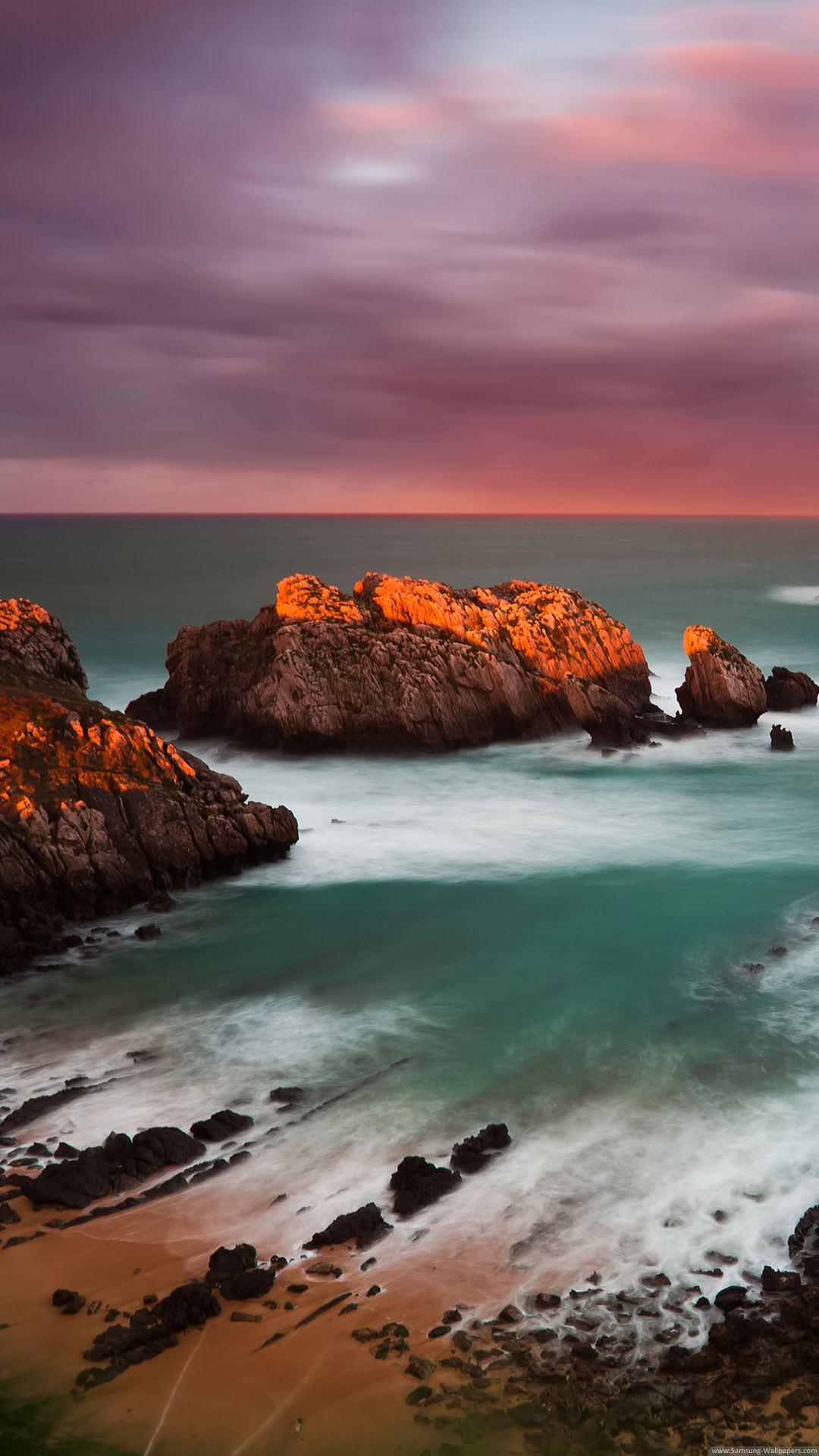 Cantabria Beach iPhone 6 Plus HD Wallpaper