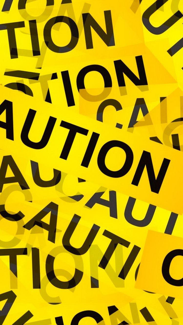 Caution Yellow Tape iPhone 6 Wallpaper (1)