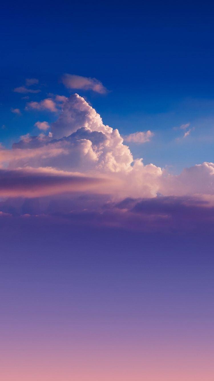 Cloud Sky Gradient iPhone 6 Wallpaper