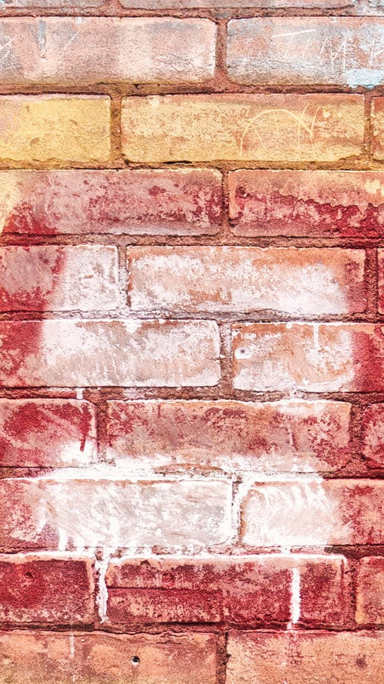 Colored Brick Texture iPhone 6 Wallpaper