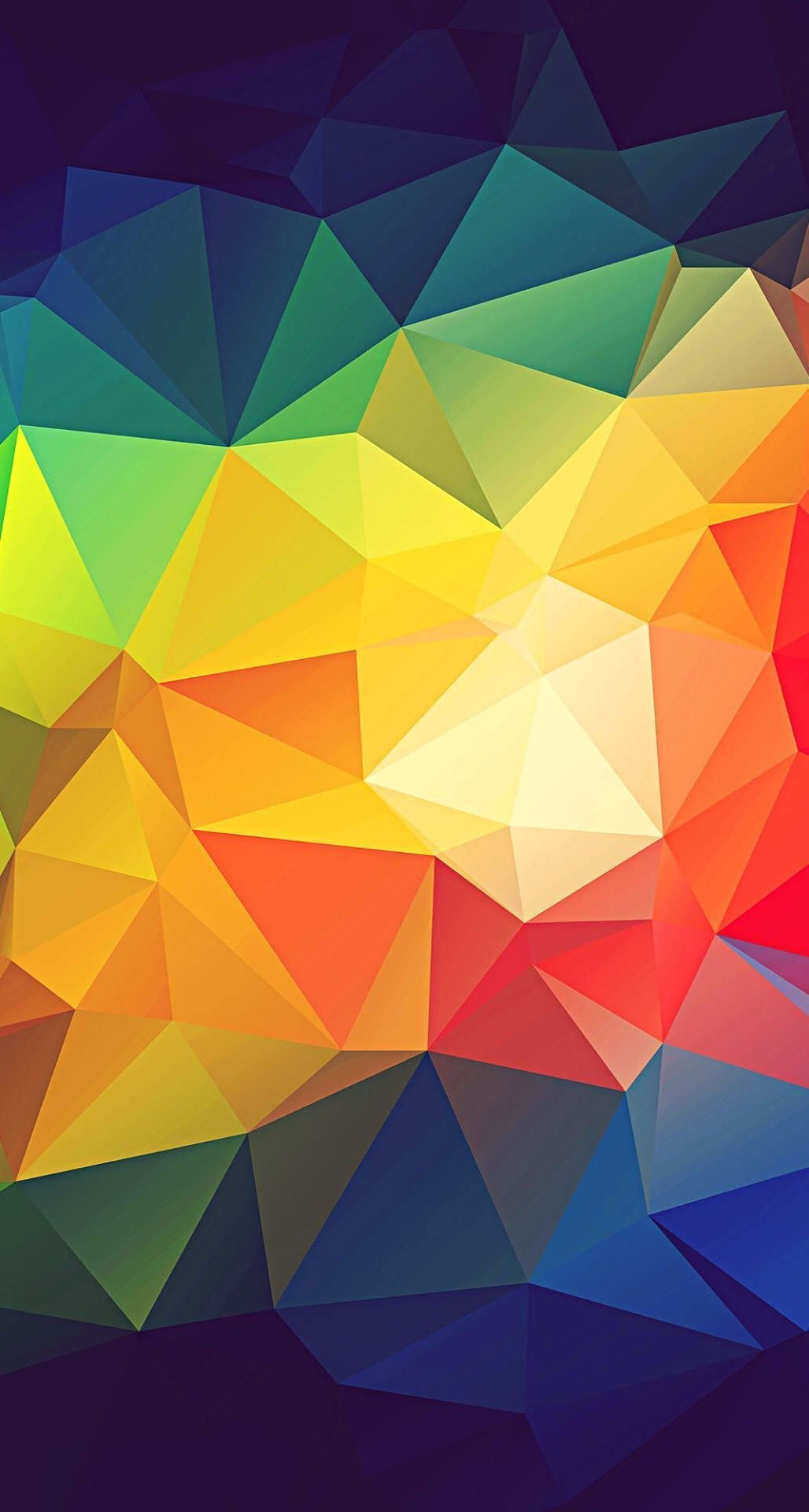 Colorful Abstract Triangle Shapes Render iPhone 6 Plus HD Wallpaper