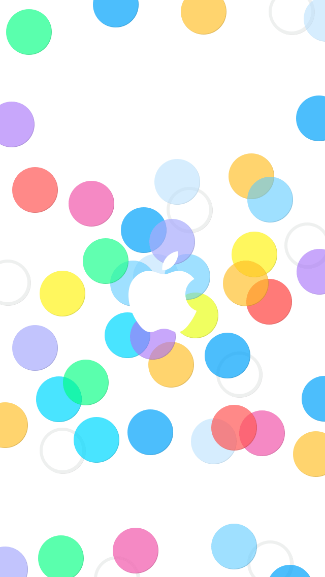 Colorful Bubbles Apple iOS7 iPhone 5 Wallpaper