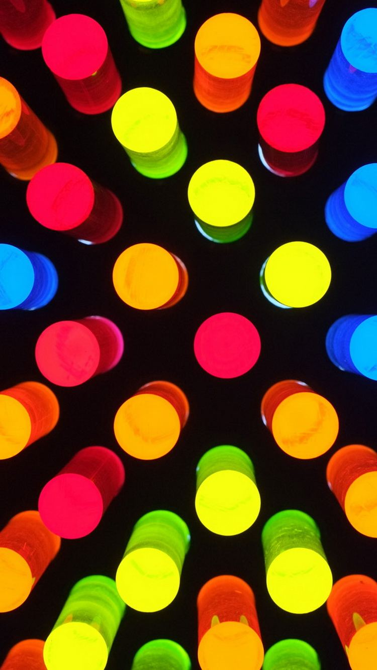Colorful Light Lamps iPhone 6 Wallpaper