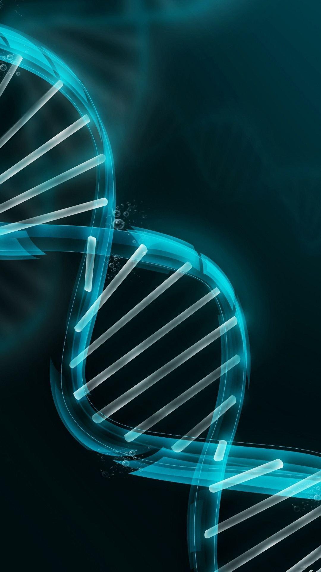DNA Strand Illustration iPhone 6 Plus HD Wallpaper