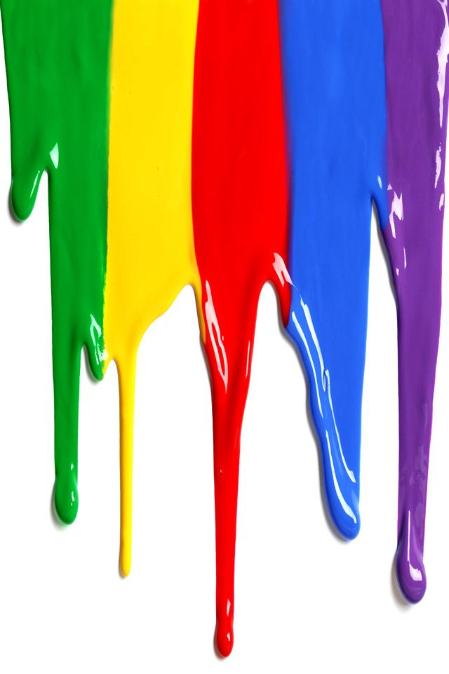 Dripping Colorful Paint iPhone 5 Wallpaper