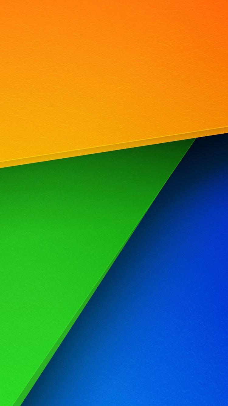 Geometric Color Sheets iPhone 6 Wallpaper