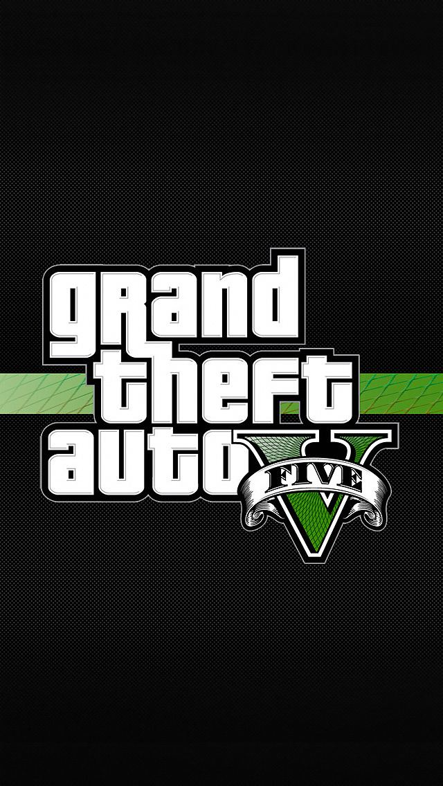 Grand Theft Auto 5 Logo iPhone 5 Wallpaper