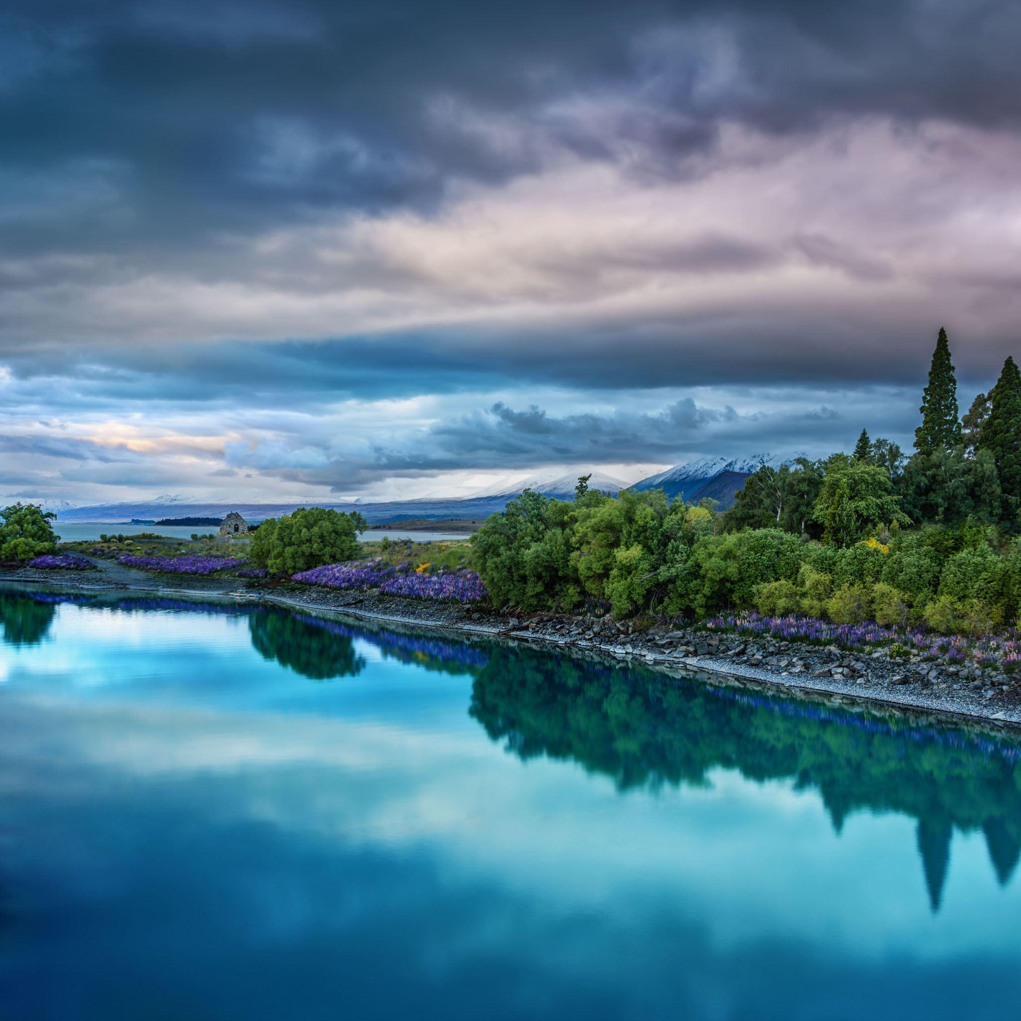 природа небо река  № 3804853 бесплатно