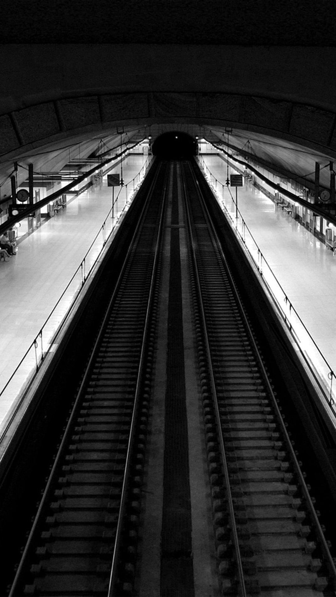 Madrid Subway Black And White Top View iPhone 6 Plus HD Wallpaper