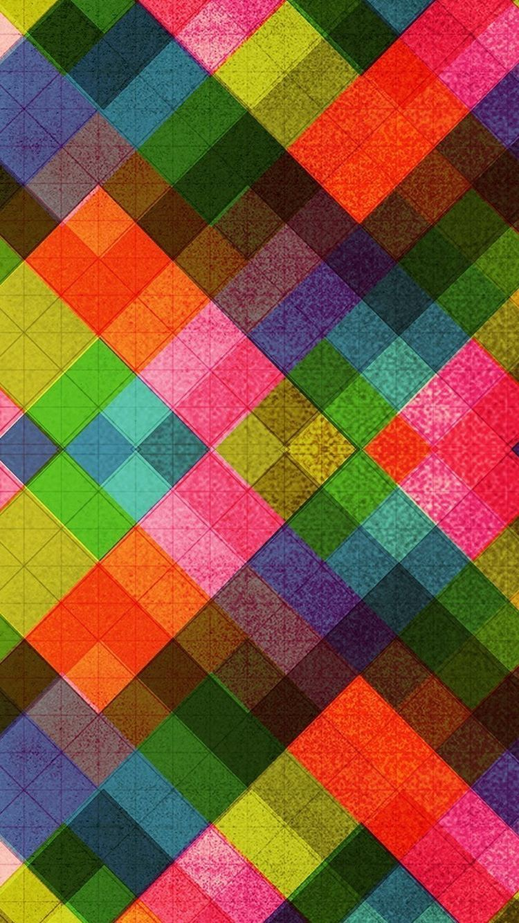 Multicolored Diamonds Pattern Abstract iPhone 6 Wallpaper