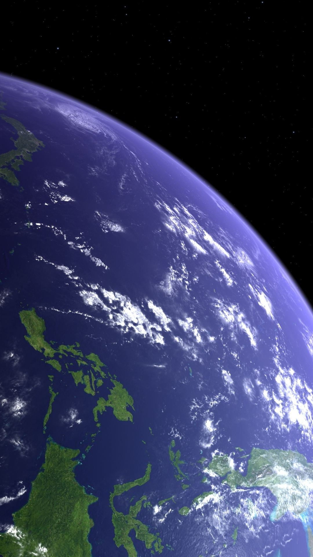 Planet Earth Orbital View iPhone 6 Plus HD Wallpaper